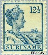 Suriname SU 88  1915 Scheepjes-type 12½ cent  Gestempeld