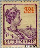 Suriname SU 98  1915 Scheepjes-type 32½ cent  Gestempeld