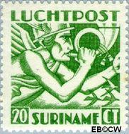 Suriname SU LP15  1941 Mercurius 20 cent  Gestempeld