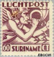 Suriname SU LP5  1930 Mercurius 60 cent  Gestempeld