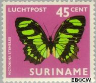 Suriname SU LP53  1972 Vlinders 45 cent  Gestempeld