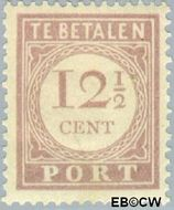 Suriname SU PT24  1913 Port 12½ cent  Gestempeld