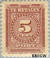 Suriname SU PT34  1945 Port 5 cent  Gestempeld