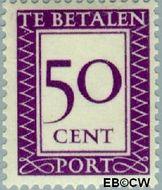 Suriname SU PT44  1950 Port 50 cent  Gestempeld
