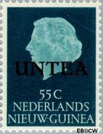 West-Nieuw-Guinea NG WNG17  1962 UNTEA opdruk 55 cent  Gestempeld