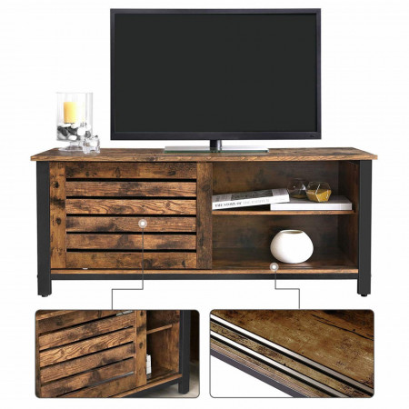 Comoda TV stil Rustic Industrial 110 x 40 x 45 cm (L x l x H) Maro Vintage
