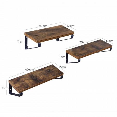 Raft cu polita suspendata Industrial Set 3 Buc