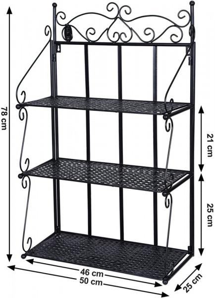 Raft Metalic de perete cu 3 etajere