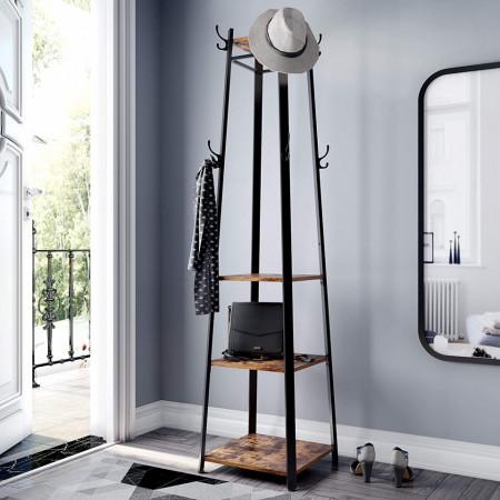 Cuier stil Pom cu 3 rafturi Industrial Design