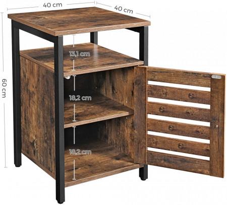 Noptiera Rustic Wood 40 x 40 x 60 cm