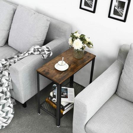 Masa laterala living, Rustic Brown 60 x 30 x 60 cm (L x l x l)