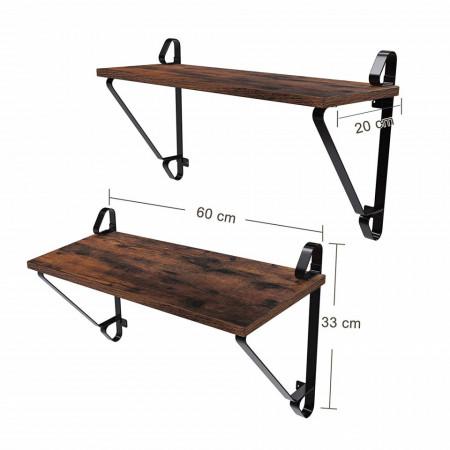 Raft cu polita suspendata set 2 buc Industrial Design