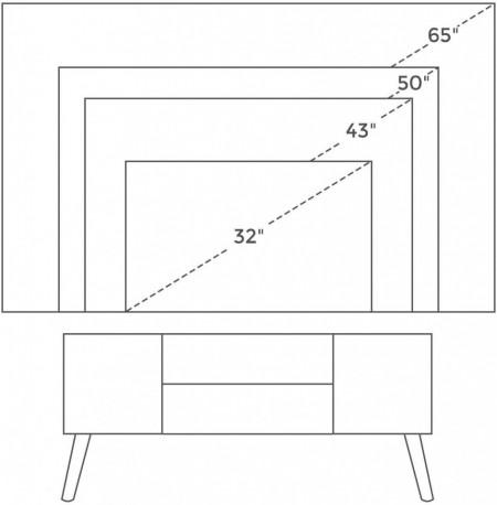 Comoda TV Retro Industrial Design 110 x 40 x 50cm Maro Vintage