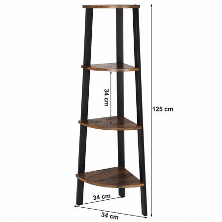 Raft de colt pentru depozitare Industrial design 34 x 34 x 125 cm (L x l x l)