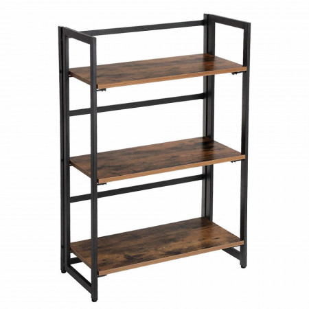 Raft pliabil Industrial Bookshelf 60 x 30 x 93 cm (L x L x H)