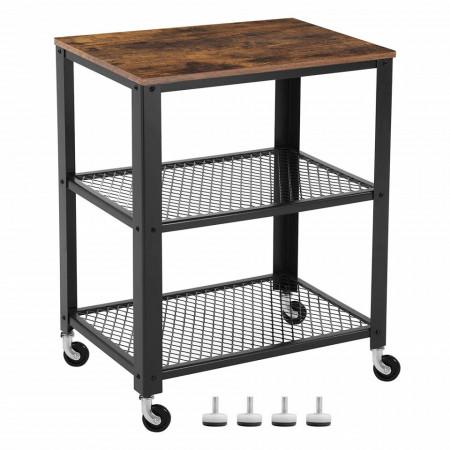 Masa mobila pentru servire Kitchen Rolling Industrial 60 x 40 x 77,5 cm (L x l x H)