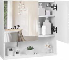 Dulap cu oglinzi pentru baie cu rafturi reglabile