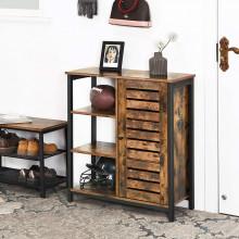 Dulap depozitare cu rafturi Industrial Storage 70 x 30 x 81 cm Maro Vintage