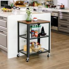 Masa mobila pentru servire Kitchen Rolling Industrial 60 x 40 x 77,5 cm (L x L x P)