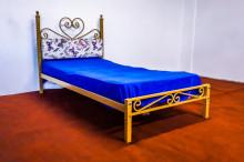 Pat cu tapiterie single 90x190 cm, Golden Trigo