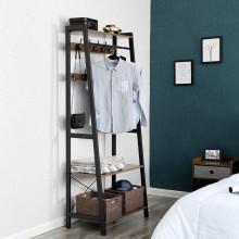 Raft pentru haine, dressing , suport umerase 76 x 22,5 / 42,8 x 180 cm