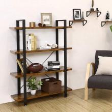 Biblioteca cu rafturi Industrial Bookshelf 105 x 33,5 x 138 cm (L x L x P)