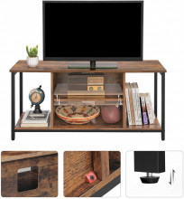 Comoda TV cu rafturi Stil Industrial Brown