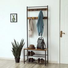 Cuier cu pantofar, Industrial Design 70 x 32 x 175 cm (L x l x l)