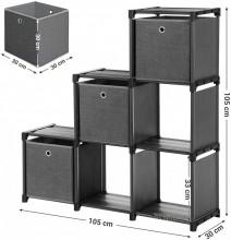Organizator depozitare 6 cuburi cu 3 cutii de depozitare