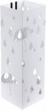 Suport metalic pentru umbrele, 49 x 15,5 x 15,5 cm alb