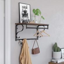 Cuier perete cu etajera Industrial Design 60 x 30 x 32 cm (L x l x l)