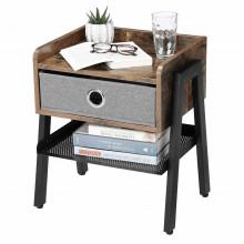 Noptiera Rustic Chic Wood cu sertar Industrial Design 42 x 35 x 52 cm