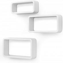 Raft pentru perete 3 buc , alb