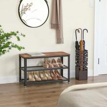 Banca ,Pantofar, raft pentru incaltaminte Industrial Design 73 x 30 x 45 cm
