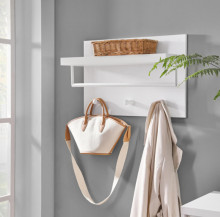 Cuier de perete cu etajera Modern White