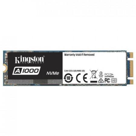 Slika KINGSTON SSD 240GB, M.2 2280, PCIe NVMe™ Gen 3.0 x 2, A1000 Serija - SA1000M8/240G 240GB, M.2 2280, PCIe, do 1500 MB/s