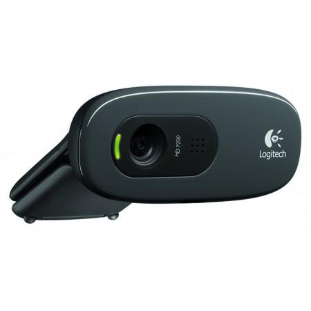 Slika LOGITECH Webcam C270 HD (Crna) - 960-001063 0.9 Mpix, 3.0 Mpix softverski, 1280 x 720, USB 2.0