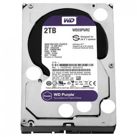 """Slika WD 2TB SATA III, 64MB, 3.5"""", 5400rpm, Purple - WD20PURZ Interni, 3.5"""", SATA III, 2TB HDD"""