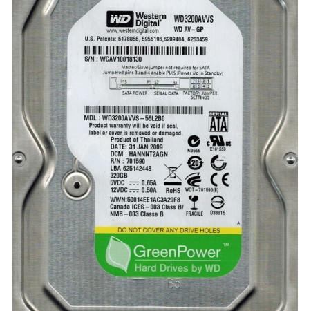 "Slika Hard disk HDD SATA2 3.5"" 7200 WD AV-GP WD3200AVVS 320GB, 8MB"