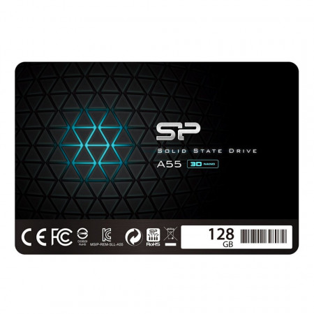 Slika SSD SATA3 128GB 3D NAND SiliconPower A55 550/420Mbs, SP128GBSS3A55S25