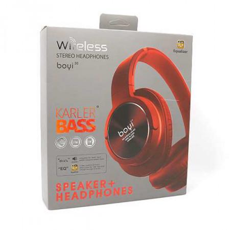 Slika Slusalice BOYI 300BT Bluetooth crvene