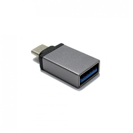 Slika Adapter OTG Type C USB meltalni srebrni
