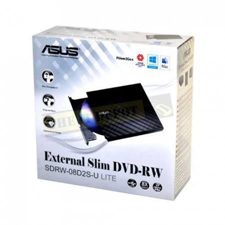 Slika USB DVD-RW eksterni ASUS SDRW-08D2S-U LITE, slim, black