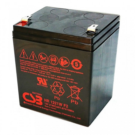 Slika Baterija za UPS 12V 5Ah Olovna VRLA High Rate, CSB HR1221W