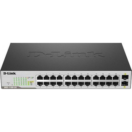 Slika Lan Switch D-Link Layer 2 SMART DGS-1100-26, 24x10/100/1000, 2xGiga SFP Combo