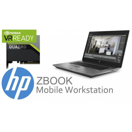 Slika HP ZBook 17 G6 6TU98EAR Intel Core i7-9850H (2.6GHz), 17.3 FHD AG LED, 16GB, SSD 256GB PCIe NVMe, GFX NVIDIA Quadro RTX 3000 6GB, WIFI, Webcam, Fingerprint, Backlit Kbd, ACA 200W, BATT 6C 95.6 WHr Win10 Pro64