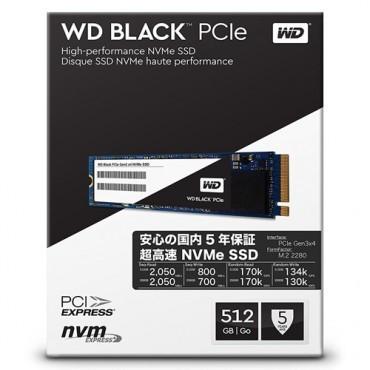 Slika SSD WD Black (M.2 NVMe, 500GB, PCIe Gen3 8 Gb/s) WDS500G3X0C