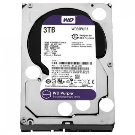 """Slika WD 3TB SATA III, 64MB, 3.5"""", 5400rpm, Purple - WD30PURZ Interni, 3.5"""", SATA III, 3TB HDD"""
