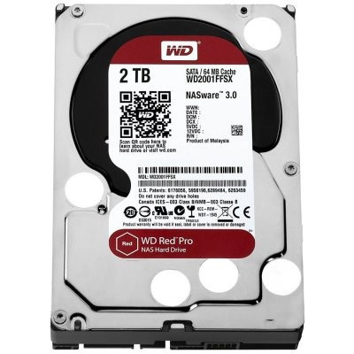 HDD Desktop WD Red Pro (3.5'', 2TB, 64MB, 7200 RPM, SATA 6 Gb/s) WD2002FFSX
