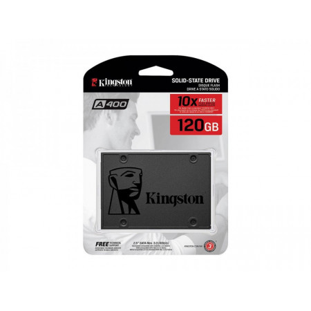 "Slika KINGSTON SSDNow 120GB, 2.5"", SATA III, A400 Serija - SA400S37/120G 2.5, SATA III, 120GB, do 500 MB/s"